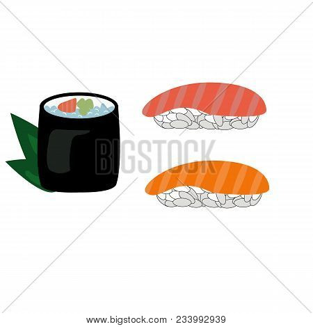 Sushi Lunch Icon. Cartoon Illustration Of Sushi Lunch Vector.