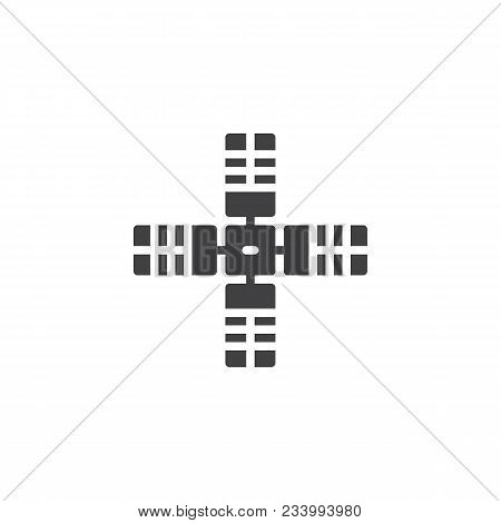 Satellite Vector Icon. Filled Flat Sign For Mobile Concept And Web Design. Space Satellite Simple So