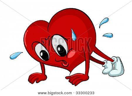 Illustration of heart pressups on white
