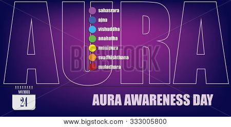 Post Card For Event November Day Aura Awareness Day