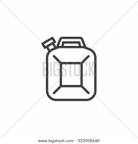Fuel Canister Line Icon. Linear Style Sign For Mobile Concept And Web Design. Jerrycan Canister Outl