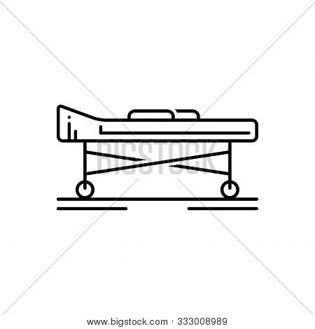 Black Line Icon For Stretcher Hospital Carrying Medicare Ciline