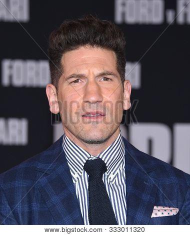 LOS ANGELES - NOV 04:  Jon Bernthal arrives for the ÔFord v FerrariÕ Screening on November 04, 2019 in Hollywood, CA