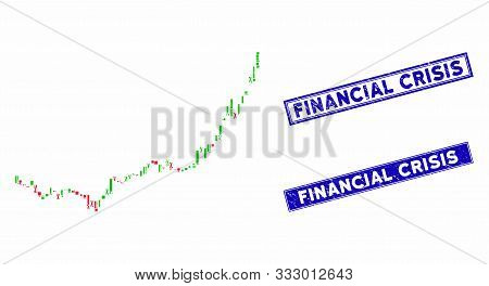 Mosaic Candlestick Graph Growth Acceleration Pictogram And Rectangular Stamps. Flat Vector Candlesti