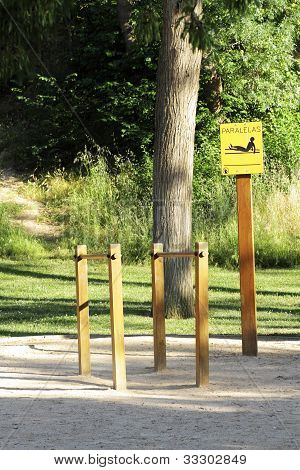 Street Furniture In Public Park  Exercise Sport