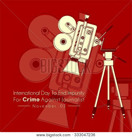 International Day To End Impunity For Crime Against Journalist With The Camcorder Falls From A Tripo