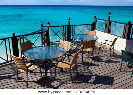Restaurant Tables With Sea View