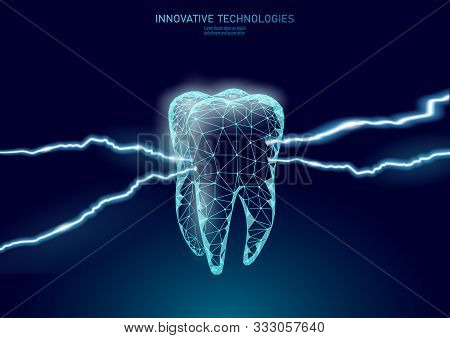 Tooth Cavity Chronic Disease Painful Concept. Medical Help Therapy Treatment. Innovation Laser Denti