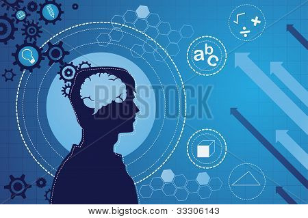 Human Brain Function Concept