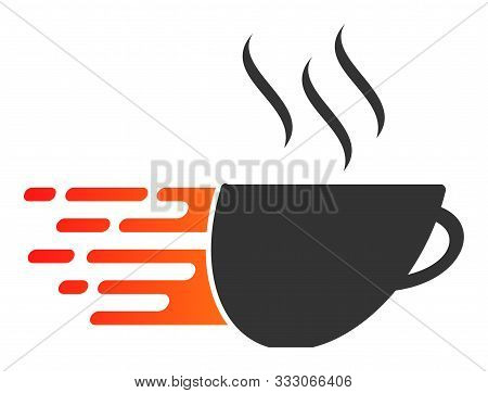Express Coffee Raster Icon. Flat Express Coffee Symbol Is Isolated On A White Background.