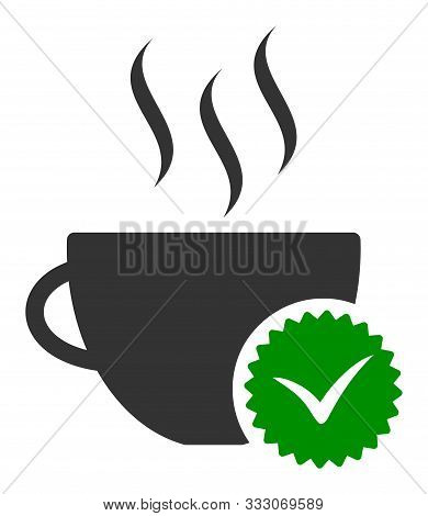 Best Coffee Raster Icon. Flat Best Coffee Pictogram Is Isolated On A White Background.