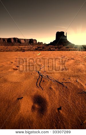 Sunrise Over Monument Valley Valley