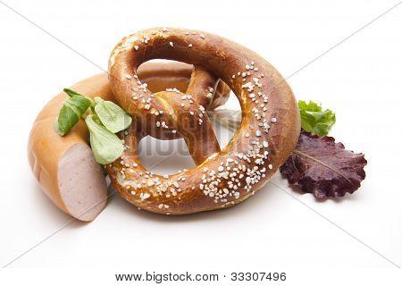 Lye pretzel with salt