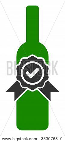 Finest Wine Raster Icon. Flat Finest Wine Symbol Is Isolated On A White Background.