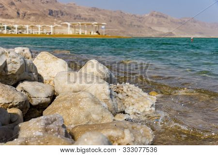 Dead Sea, Salt Beautiful View Israel Path To The Sea Under A Canopy Dead Sea