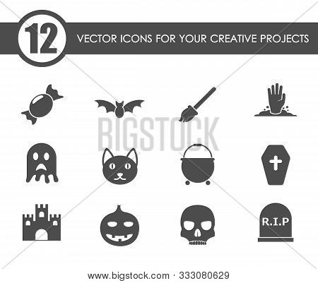 Helloween Vector Icons For Your Creative Ideas