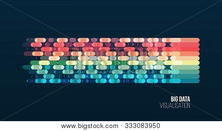Big Data Visualization. Abstract Background With Lines Array And Binary Code. Connection Structure.