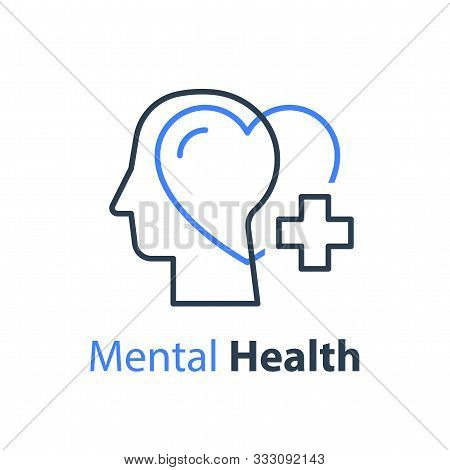 Mental Health, Human Head, Psychological Help, Psychiatry Concept, Therapy Course, Cognitive Develop