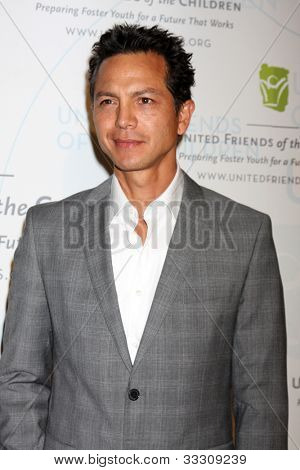 LOS ANGELES - MAY 21:  Benjamin Bratt arrives at the 2012 United Friends of the Children Gala  at Beverly Hilton Hotel on May 21, 2012 in Beverly Hllls, CA