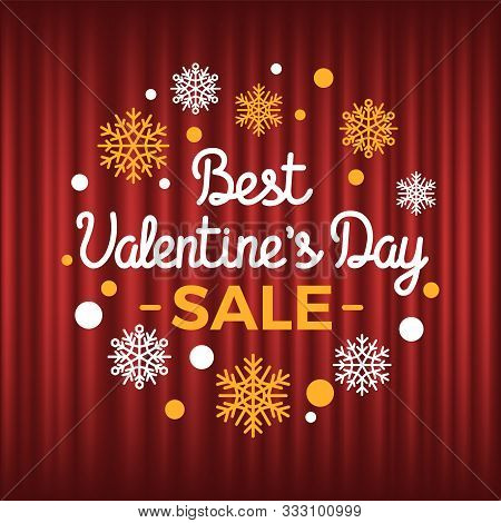 Discounts On Holiday Of St Valentines Day Vector, Promotion And Clearance. Sale And Propositions Sno