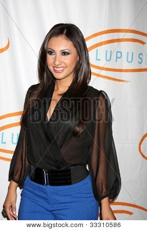 LOS ANGELES - MAY 24:  Francia Raisa arrives at the 12th Annual Lupus LA Orange Ball at Beverly Wilshire Hotel on May 24, 2012 in Beverly Hllls, CA