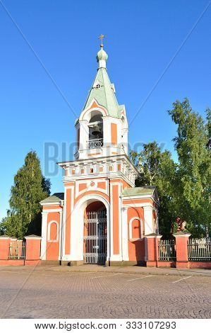 Hamina, Finland. Church Of St. Peter And Paul In A Sunny Summer Evening