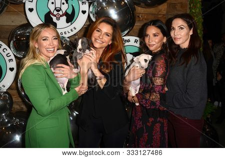 LOS ANGELES - NOV 6:  Hilary Duff, Maria Menounos, Olivia Munn, Whitney Cummings at the Love Leo Rescue 2nd Annual Cocktails for A Cause at the Rolling Greens on November 6, 2019 in Los Angeles, CA