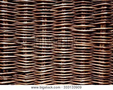 Wickerwork Made From Natural Materials, Concept Background Image.