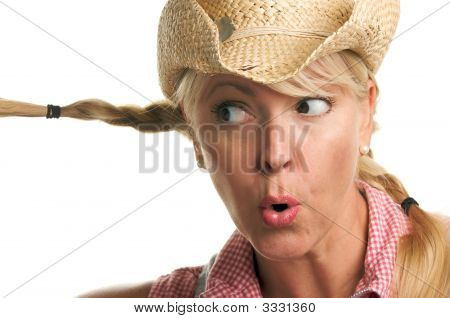 Attractive Blond With Cowboy Hat