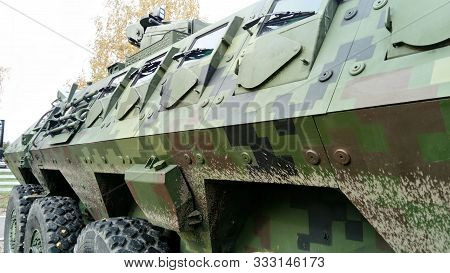 An Armored Transport And Combat Vehicle For Transporting Personnel Of Motorized Rifle, Motorized Inf