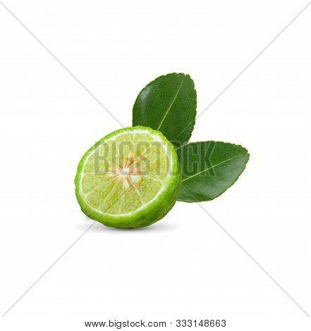 Bergamot On White Background.bergamot Is Herb For Health.