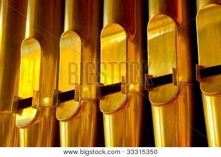 golden organ pipes