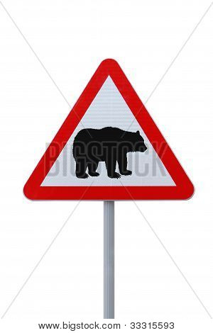 """Bear Crossing"" Warning Sign"