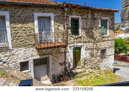 Old Abandoned Houses At The Village Of Kastraki, Kalabaka Municipality, Central Greece