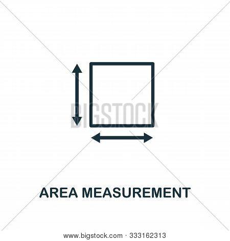 Area Measurement Icon Outline Style. Thin Line Creative Area Measurement Icon For Logo, Graphic Desi