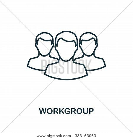 Workgroup Icon Outline Style. Thin Line Creative Workgroup Icon For Logo, Graphic Design And More