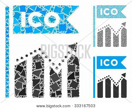 Ico Chart Composition Of Rugged Elements In Different Sizes And Color Tones, Based On Ico Chart Icon