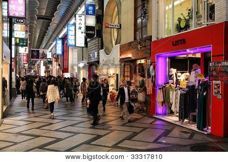 Shopping In Osaka, Japan