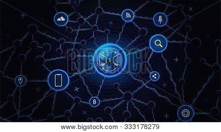Internet Business Technology. Communication Network Background. Online Business Network. Personal Da