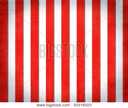 Circus Grunge Textured Backdrop with red and white Stripes poster