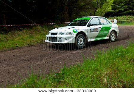 J. Laverty Driving Mitsubishi Evo