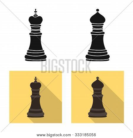 Isolated Object Of Checkmate And Thin Icon. Set Of Checkmate And Target Stock Vector Illustration.