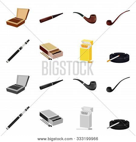 Vector Illustration Of Refuse And Stop Icon. Set Of Refuse And Habit Stock Vector Illustration.