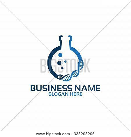 Dna, Genetic Lab Logo Modern - Vector