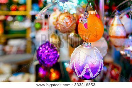 Christmas Tree Decoration At Christmas Market Charlottenburg Berlin New