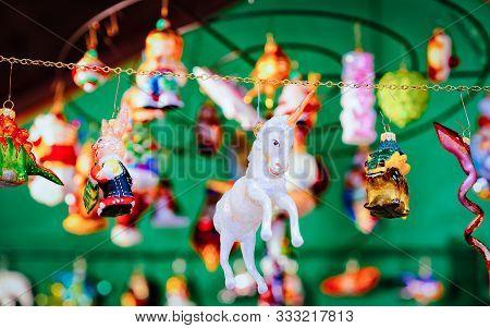 Christmas Tree Decoration In Christmas Market At Charlottenburg Palace Berlin New