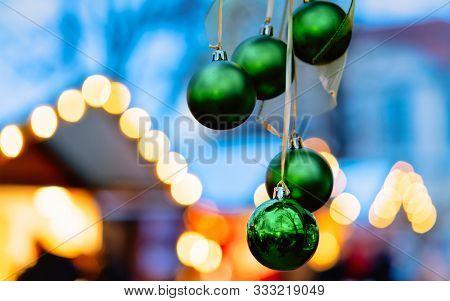 Christmas Decoration At Night Christmas Market At Charlottenburg Palace Berlin New