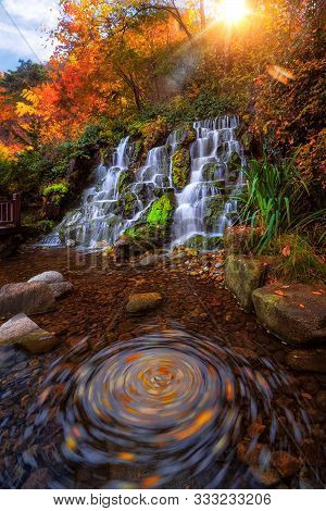 Unseen Waterfall And Park Between Walking To Top N Seoul Tower, Seoul City, South Korea