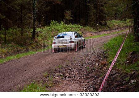 C. Britton Driving Subaru Impreza