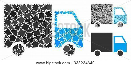 Shipment Van Composition Of Bumpy Items In Different Sizes And Color Tints, Based On Shipment Van Ic